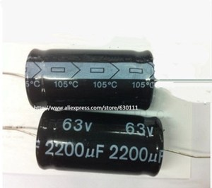 Image 1 - 63v 2200uf Axial Electrolytic Capacitor 2200UF 63V 18x36mm (5pcs)