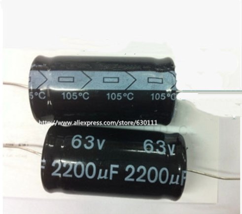 63v 2200uf Axial Electrolytic Capacitor 2200UF 63V 18x36mm (5pcs)
