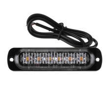 12-24 v 6 Slim LED Flash Light Bar Auto Car Veículo de Emergência Atenção Strobe Light-emitting Diode lâmpada Caminhão Acessório Da Motocicleta