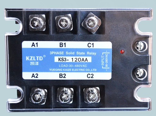 Three-phase solid state relay 120A AC to AC solid state relay 110V220V380V normally open single phase solid state relay ssr mgr 1 d48120 120a control dc ac 24 480v