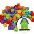 3 Conjuntos Hot 200 Pçs/set Multicolor blocos de Construção de Plástico Crianças de Puzzle Brinquedo Do Bebê de Aprendizagem Educacional Developmental Toy Jogo Do Cérebro