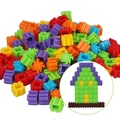 3 Sets Caliente 200 Unids/set Multicolor Kids Bebé de Juguete de Construcción de Plástico Rompecabezas Aprendizaje Educativo Juguete de Desarrollo Del Juego Del Cerebro