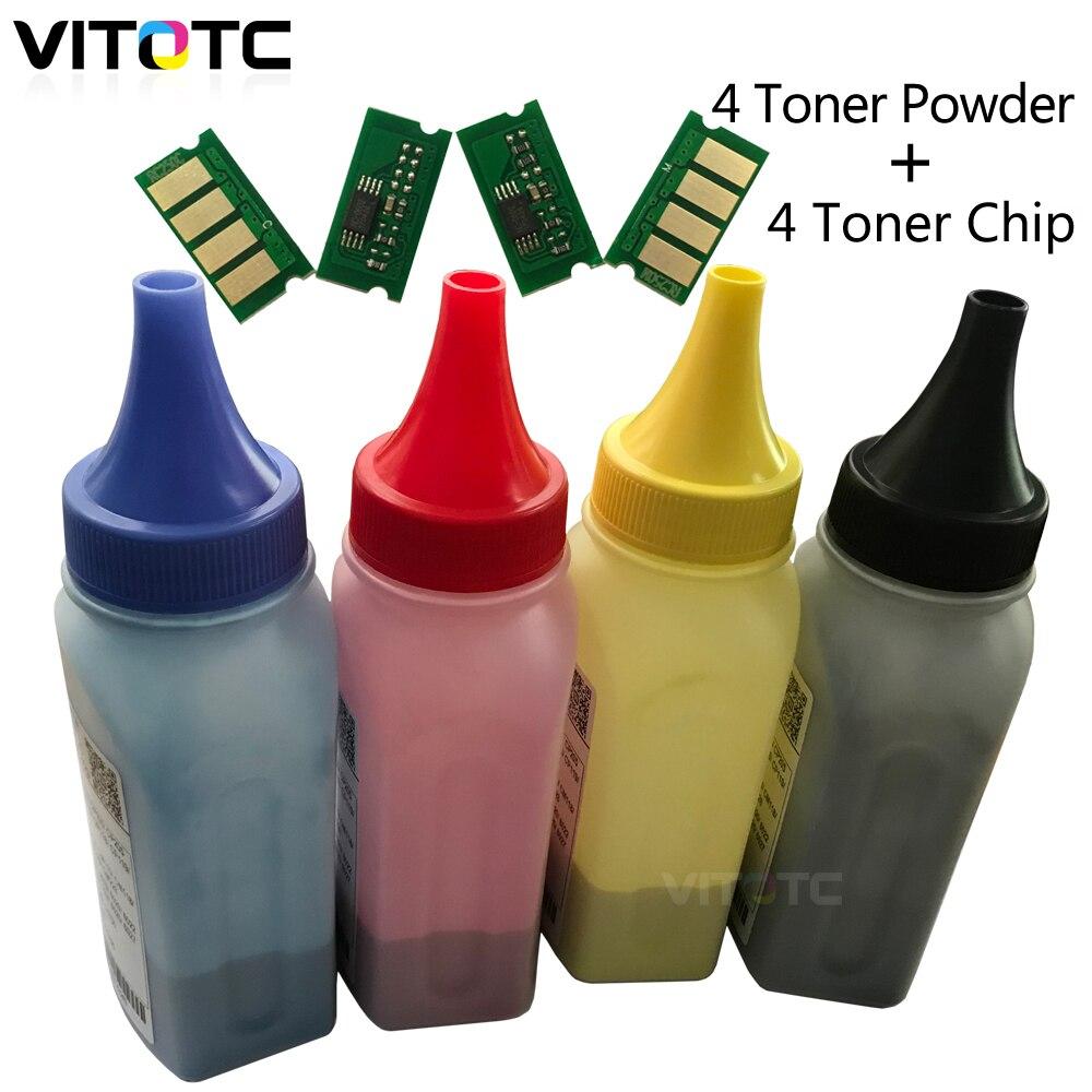 4 Color <font><b>Cartridge</b></font> Chip Toner Powder Comp