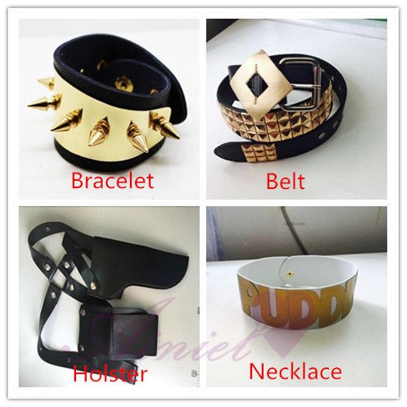 Joker Cosplay   Belt,  Bracelet, Necklace, Holster Clown Daddy's Lil Monster cosplay Necklet