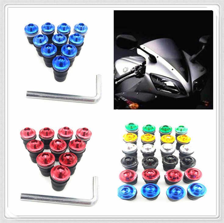 Kit moto pare-brise moto pare-brise boulons vis pour YAMAHA XJ6 N XJ6 déviation XSR 700 ABS XSR 900 ABS 1200