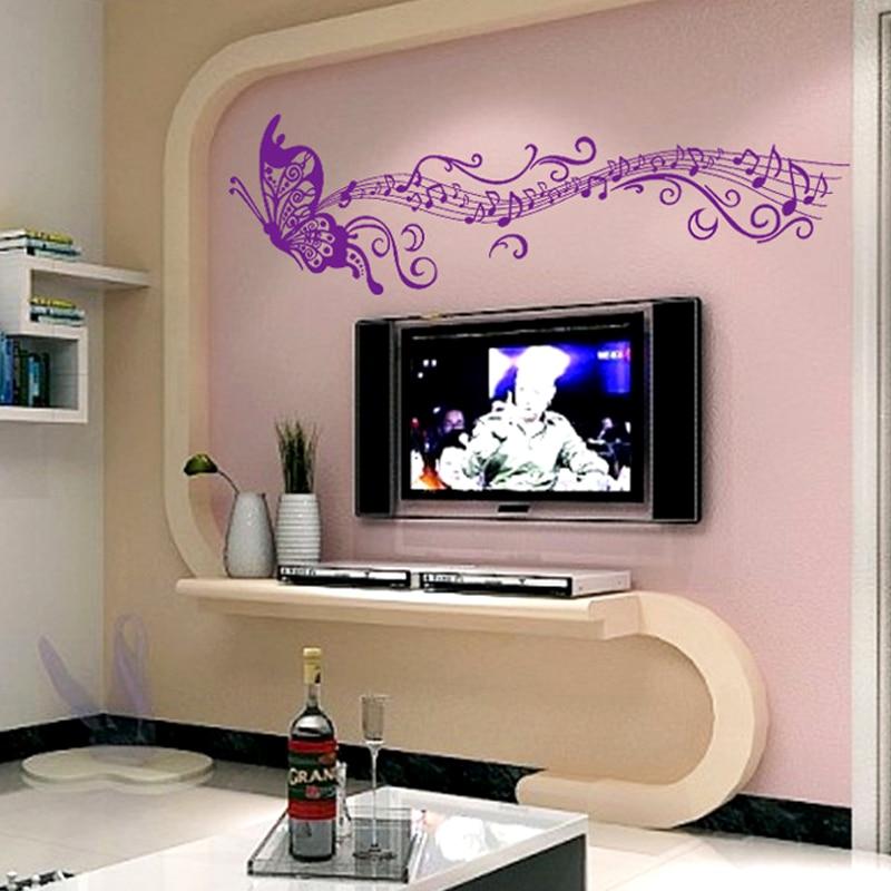 Creative Home Decor Couleur Pourpre Papier Peint Papillon ...