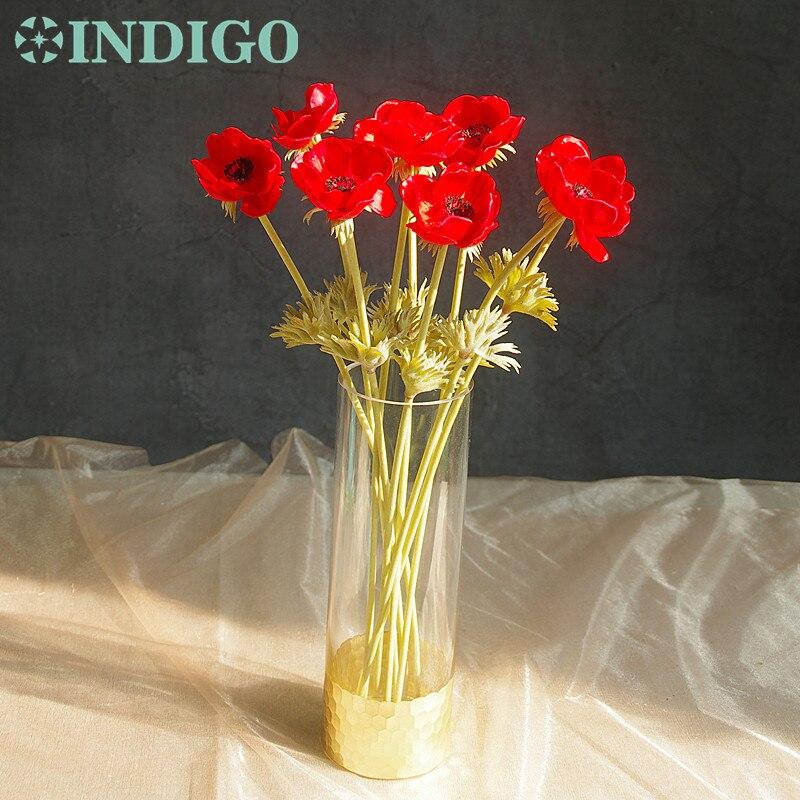 INDIGO- 9tk PU anemone pasque kollane daisy lill kodu pruut pulm - Pühad ja peod - Foto 5