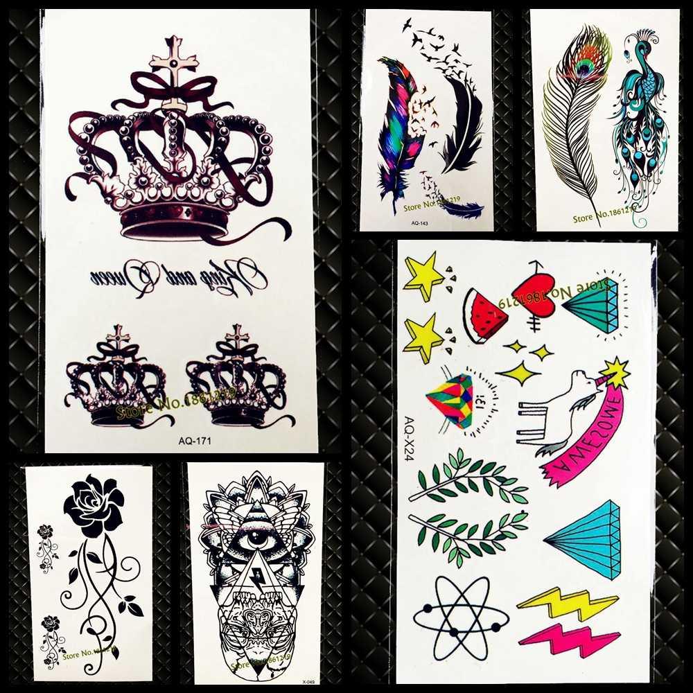 Como Hacer Un Diseño Para Tatuaje 1 unidad de calcomanías adhesivas para tatuaje temporal con