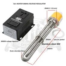 3.0 kW-6.0kW, 220/380 V, DN40. podgrzewacz do zbiornika, elektryczny podgrzewacz wody, element grzejny. ze stali nierdzewnej 304