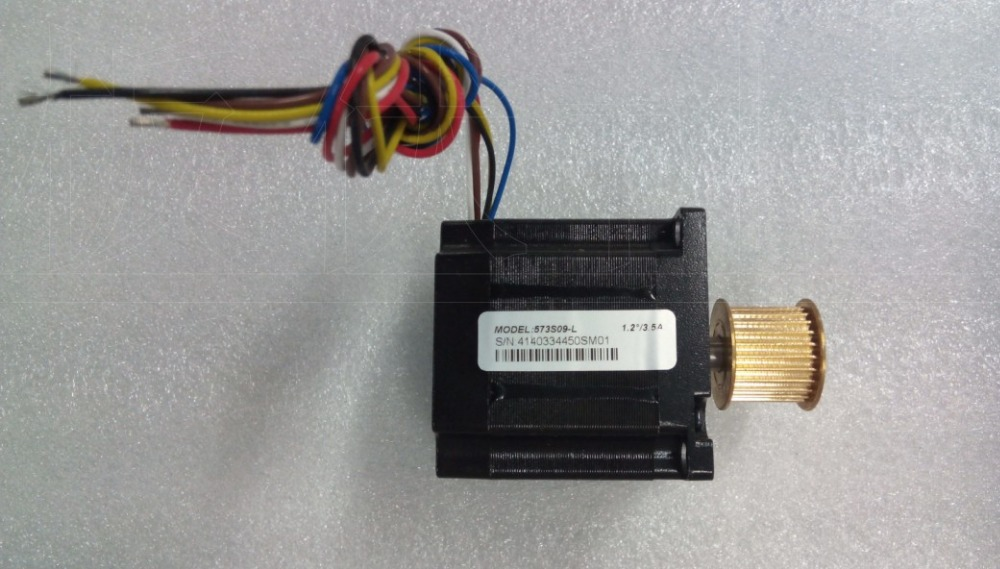 цена на New Leadshine 3-phase stepper motor NEMA 23 output 0.9NM with gearwheel 573S09-L 6 wire should work with 3ND583 drive CNC motor