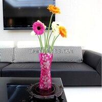 Portable Foldable Colorful Plastic PVC Flower Vase Jardiniere