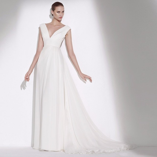 Free Shipping Elie Saab Off White Color High Quality Wedding Dress 2017 Holy Bridal Gowns Dubai