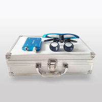 Dental Loupe 2.5X 3.5X Surgical Magnifying Glasses Dental Equipment Surgical Dentists Magnifier with LED Head Light Box