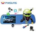 """5.0 """"IPS Сенсорный Android 4.4 ROM 16 ГБ FHD1080P даш камеры парковки автомобильные видеорегистраторы зеркало Заднего Вида видеорегистратор Автомобильный ВИДЕОРЕГИСТРАТОР Двойная Камера GPS"""