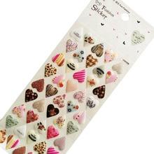 1pcs/lot beauty 3D Heart scrapbooking stickers PVC Sticker DIY Multifunction Label Diary Notebook Phone Decoration