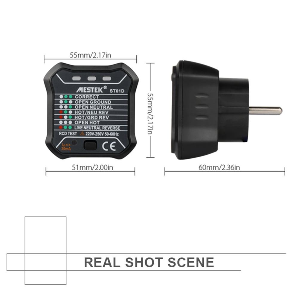 Mestek Rcd Electric Socket Tester Neutral Live Earth Wire Electriccircuit2jpg Circuit Polarity Detector Wall Plug Breaker Finder In Voltage Meters From Tools On