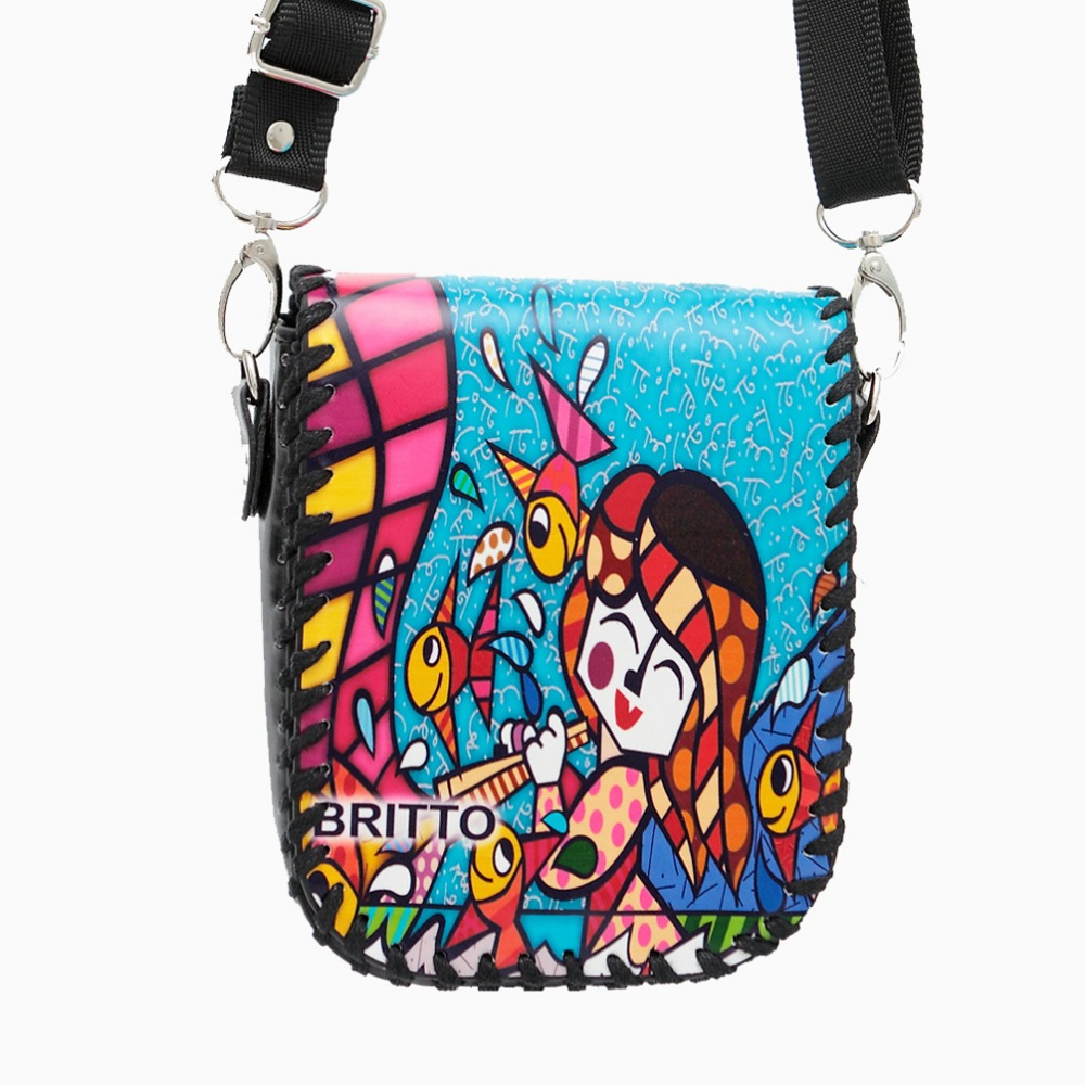 Purchase BRITTO Messenger Bags PU Shoulder Diagonal Small Square Package For Phone Purse Grils Mini Graffiti