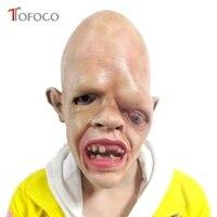 Lateks Jedno Oko Zombie Horror Straszny Twarzy Maska Halloween Fancy Costume Party Dress Rekwizyty Zabawki Dla Dorosłych Dzieci