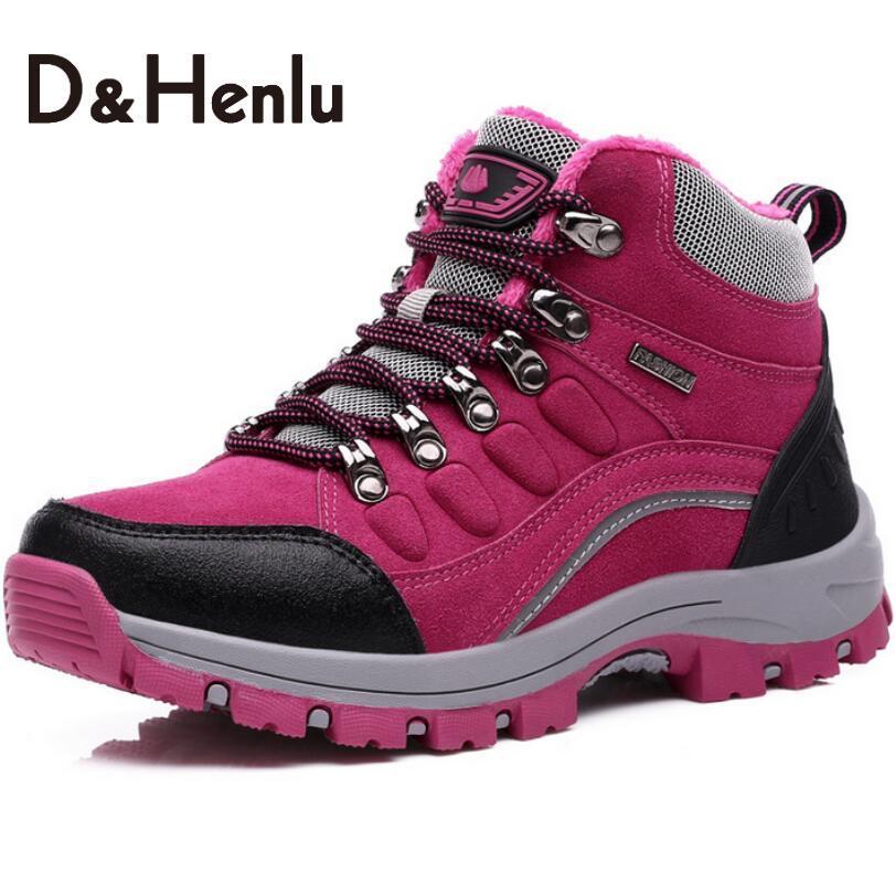 ФОТО {D&H}Size35-44 Winter Women Casual Shoes Skid Snow Boots Lady's Cotton-padded Thickening Warm Shoes Women Travel High Top Shoes