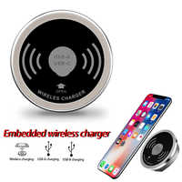 Built in Desktop Device Qi Fast Wireless Charger 15W 10W 7.5W or 5W Quick Charger 3.0 Embedded Caricabatter Tipe C Charger