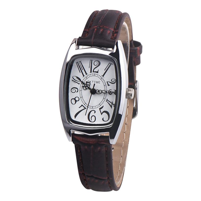 Quartz Watches Women Clock Lady Square Leather Strap Rectangle Casual Fashion Women's Dress Watch Ladies Wristwatch 39J 3