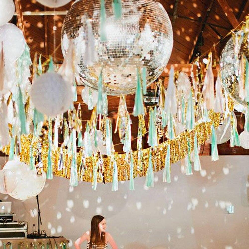ZLJQ 120*35 cm Gold Quaste Vorhang Party Dekorationen Diy Silber Flag Und Banner Startseite Hochzeit Geburtstag Neujahr Layout Versorgung 8D