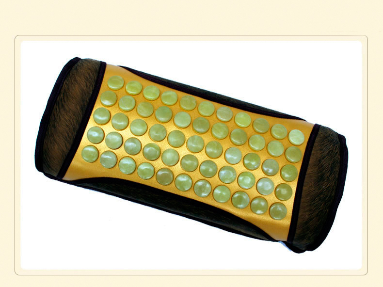 2016 Health Care Products Decavem Jade Stone Massage Pillow Electric Heated Neck Pillow for Cervical Free Shipping healthcare gynecological multifunction treat for cervical erosion private health women laser device