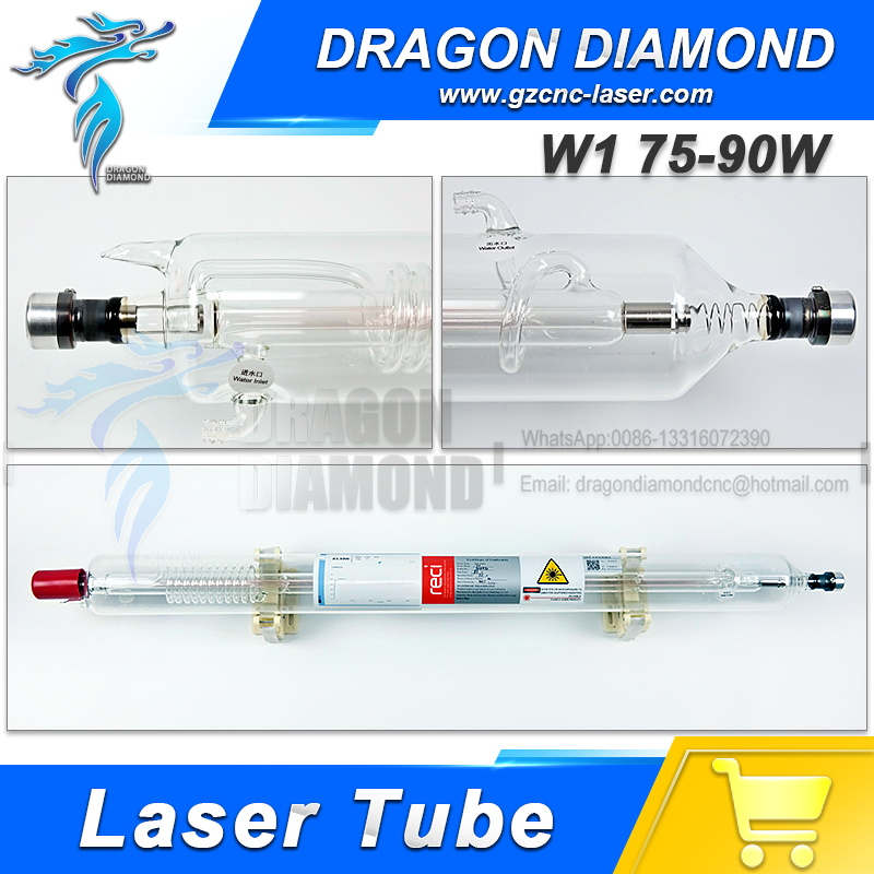 Hot sale RECI Laser tube W1 75-90W For Co2 Laser for engraver cutting machine 80W Dia 80mm Length 1050mm hot sell high quality cw3000 water chiller cooling laser tube for laser machine