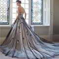 El envío libre 2017 nueva correa del vestido de boda atractivo romántico de novia vestido de novias vestidos de novia de encaje de la moda vestido caliente yan68