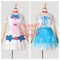 LoveLive! будущее Стиль Сонода Уми этап платье Хэллоуин равномерное 2 шт./компл. платье * 2 + Средства ухода за кожей шеи + бабочка + Носки для девоче