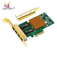 I350T4 10 100 1000Mbps PCI Express 4 X RJ45 Gigabit Ethernet Quad Port Server Adapter