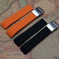 21mm New High Quality silicone rubber Orange Black Watch band Strap for sport racing watches fashion style watchband T013420