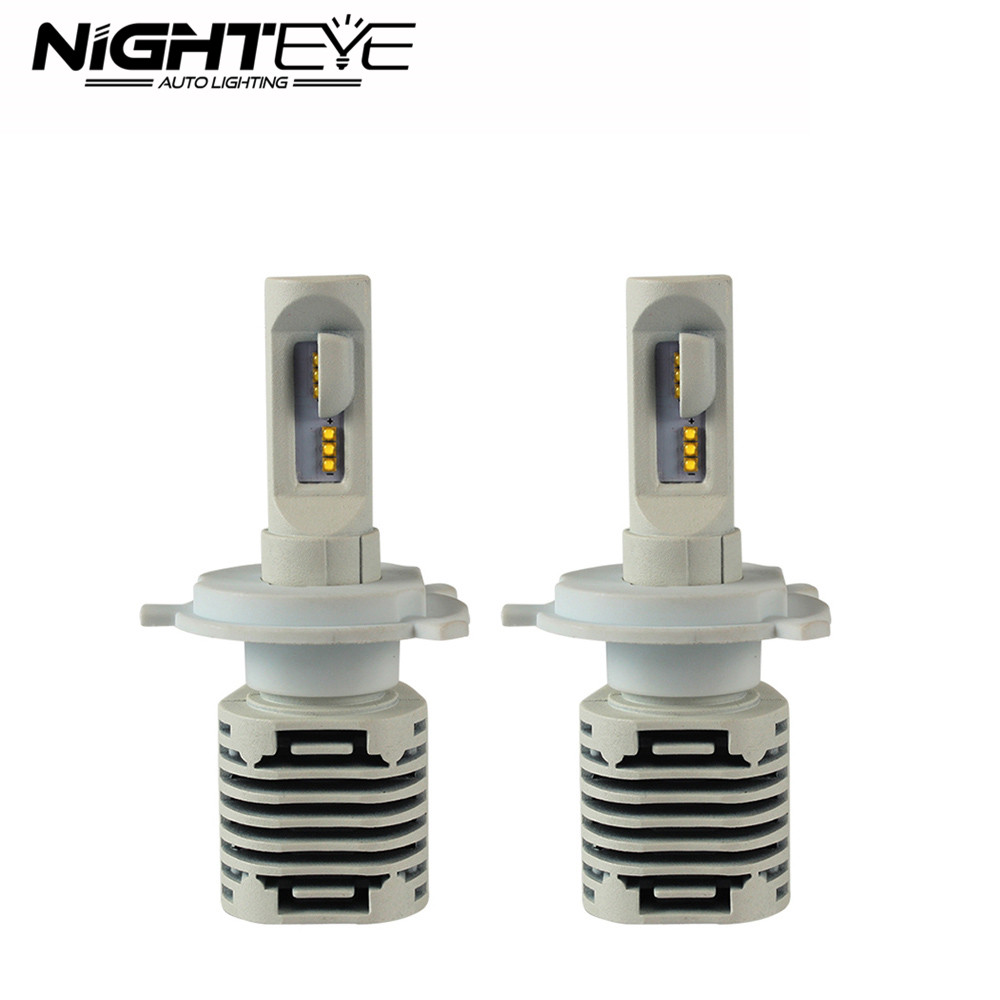 Nighteye Auto Car Light 80W 12000LM H4/HB2/9003 LED Car Headlight Kit Light Bulb Hi/Low Beam 6500K White 2pcs Set Free Shipping 1 pair h4 9003 hb2 led bulb for cars auto led headlight kit h4 high low beam head light 30w 4200lm 12 smd super bright