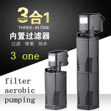 цена на Fish tank aquarium oxygen pumping triple filter pump model JP-025F Voltage 220V Power 35W head 2.5m flow 1600L / h