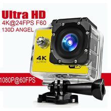 Goldfox Marca Estilo H9 Mini Acción de la cámara Digital DV Deporte 2.0 LCD 130D lente ir a prueba de agua pro cámara Cam Ultra HD 4 K WiFi 1080 P