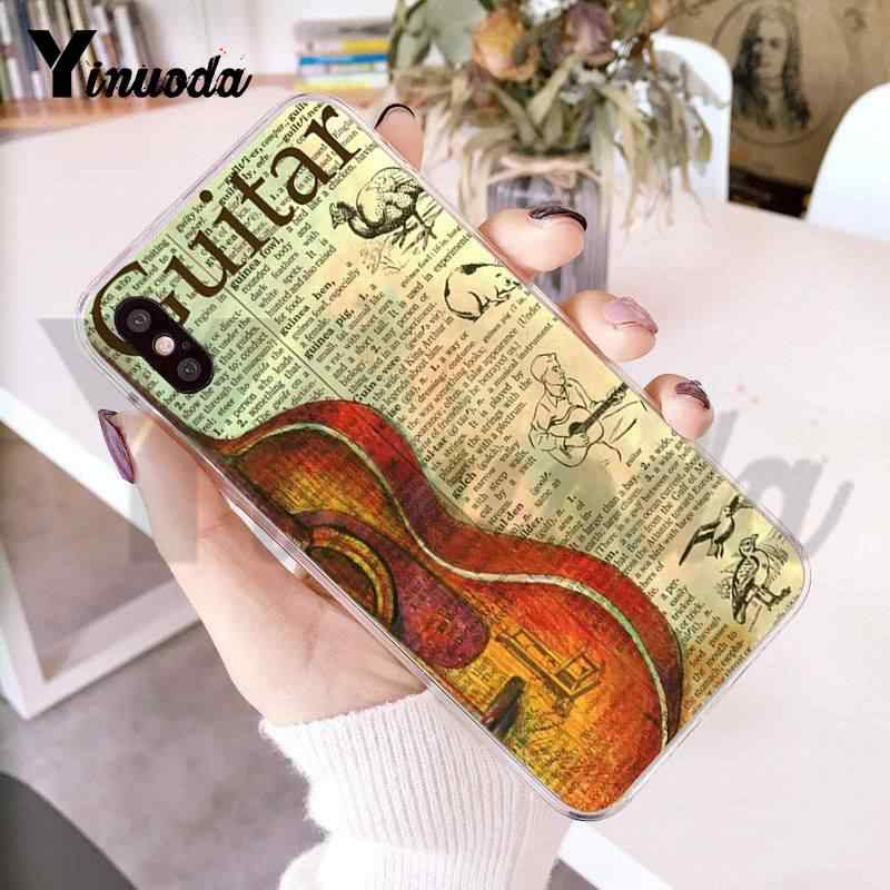 Yinuoda For iphone 7 6 X Case Music Score Musical Instrument Violin Guitar Phone Case for iPhone 8 7 6 6S Plus X 10 5 5S SE 5C 4