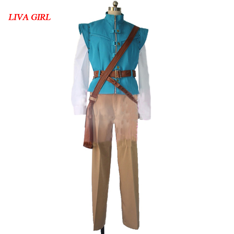 2017 Tangled Flynn Rider Cosplay Costume Rapunzel Prince adult men s tangled flynn rider cosplay boots shoes halloween cosplay prop custom made