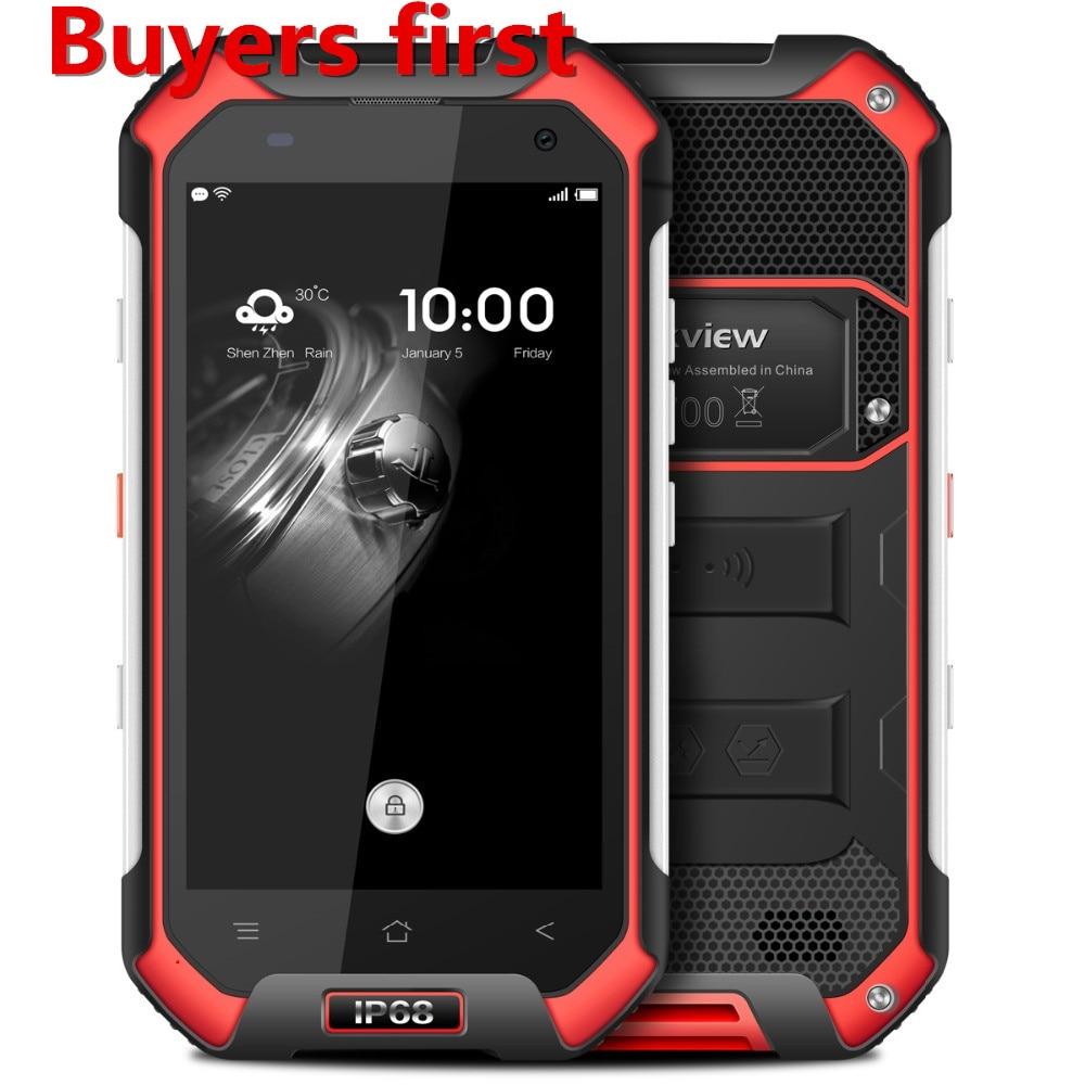 Origine Blackview BV6000 4G Mobile Téléphone 4.7 MT6755 Octa base Android 6.0 3 GB RAM 32 GB ROM 13MP Étanche IP68 smartphone