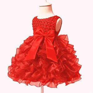 Кружевное платье-пачка принцессы для маленьких девочек 0-24 месяцев, бальное платье для маленькой девочки, платье на свадьбу, вечеринку, 1 год,...