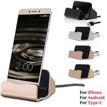 Micro Usb 5pin Type C Docking Station Desktop Cradle Stands Type-C Dock Stand Charger Charging Holder For iphone Xiaomi Huawei недорго, оригинальная цена