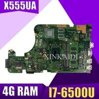 XinKaidi X555UA Laptop motherboard para ASUS X555UJ X555UF F555U X555UB X555UQ X555U 100% original Teste mainboard 4G RAM I7 6500U|Placas-mães|   -