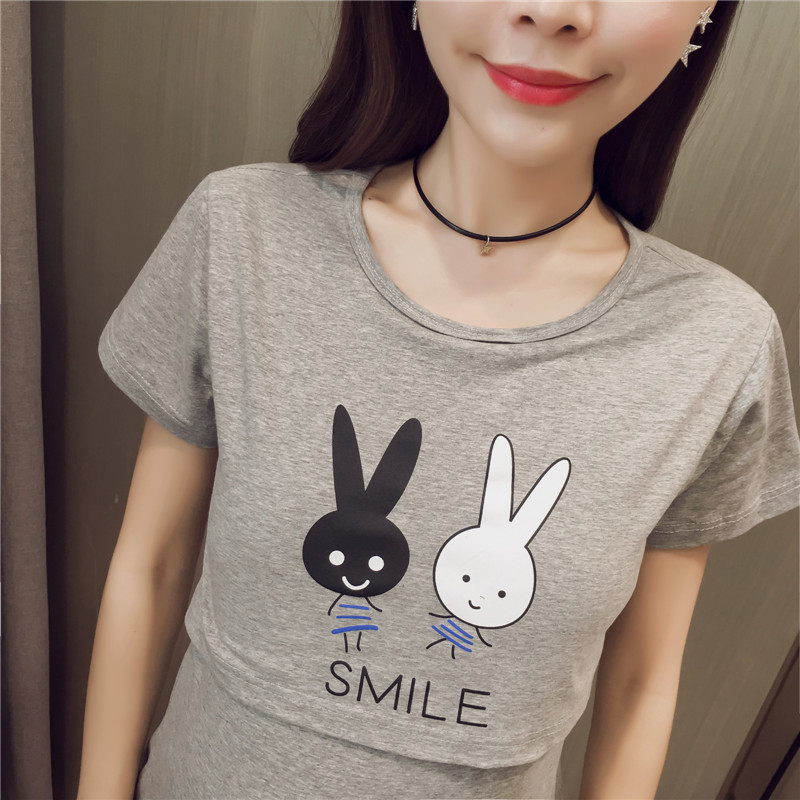 84349185fb85b Funny Maternity Shirts Breastfeeding Tops Cute Nurse Cheap Maternity  Clothing T shirt Women Summer Cartoon Rabbit Clothes Women-in Tees from  Mother   Kids ...