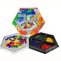 Squares Education Board Game Hexagonal Blocks Family/Party Parents with Children Box Game Entertainment