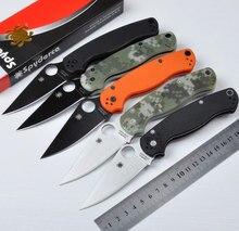 C81 CPM-S30V hoja 58HRC 2 colores G10 mango 3 colores supervivencia que acampa plegable del cuchillo herramientas al aire libre cuchillos tácticos