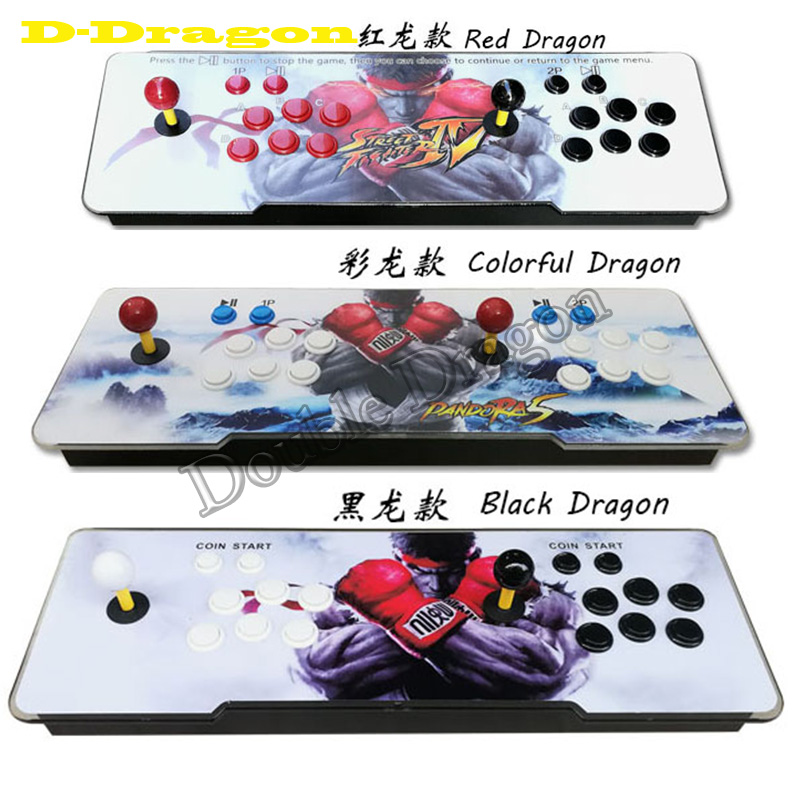 Arcade Box 5S 999 Games in 1 Arcade Console Slim Acrylic Surface 2P Joystick FightStick Arcade Console VGA/HDMI Output 720P HD