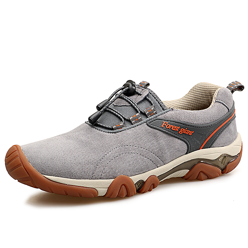 Ifrich Super Cool Autumn Winter Comfortable font b Hiking b font Shoes Men Leather Mountain Climbing