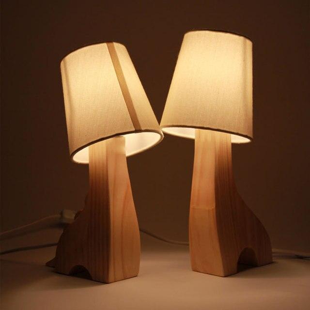 abajur para quarto table lamp wood cute cartoon night light wooden desk lamp decoration lamps. Black Bedroom Furniture Sets. Home Design Ideas