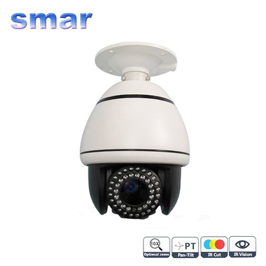CCTV Security Sony CCD 480TVL 700TVL 10X Optical Zoom LED IR Night Vision Indoor Speed Dome PTZ Camera Free Shipping 4 in 1 ir high speed dome camera ahd tvi cvi cvbs 1080p output ir night vision 150m ptz dome camera with wiper