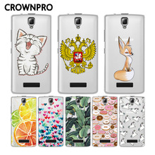 CROWNPRO Soft TPU Case For Lenovo A2010 Case Cover Silicone Colored Painting Cover Back For Lenovo A2010 A 2010 Mobile Phone