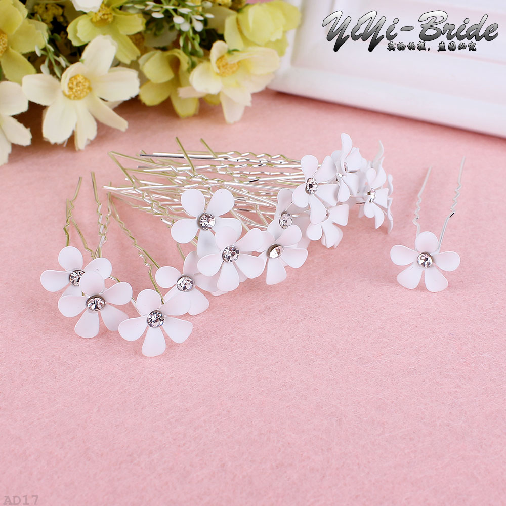 20 unids cristal claro rhinestone flor nupcial boda prom partido ...